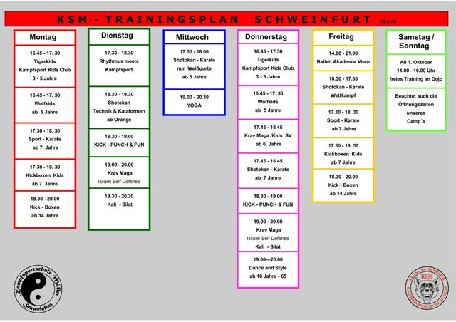 Trainingsplan Schweinfurt
